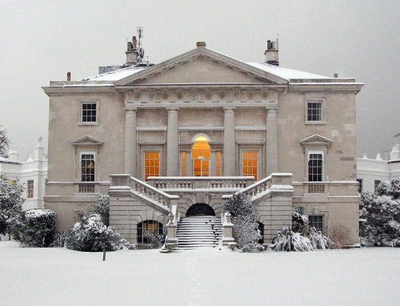 White Lodge in the Snow